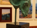 Serena Bates, <i>Amun Ra, </i>bronze and granite, $6,500