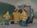 Michael Centrella, <i>Morning Road Work, </i>oil, $400
