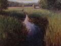 Tony D'Amico	, <i>	Flowing Creek at Old Lyme	, </i>	oil	, 	$1,650