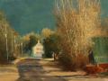 Faripour Forouhar, <i>Leafless Trees, </i>oil, $1,800