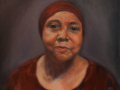 Rosemary Gates	, <i>	Jamelah	, </i>	oil	, 	$600