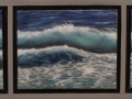 Rosemary Gates, <i>Two Waves in a Row, </i>oil, $350