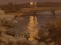 Bill Hanson, <i>Evening Bridges, </i>oil, $800