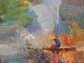Sunil Howlader, <i>Day Break, </i>acrylic, $950
