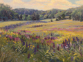 Jacqueline Jones	, <i>	Lupine River	, </i>	oil	, 	$3,000