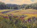 Jacqueline Jones, <i>Lupine River, </i>oil, $3,000