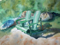 Keiko Kaiser, <i>We will be Right Back, </i>watercolor, $300