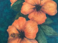 Elin Larson, <i>Hibiscus, </i>watercolor, $400