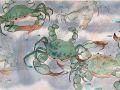 Gale Loch, <i>Crabs, </i>watercolor, $700, 19 x 25