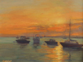 Barbara Lussier, <i>Harborside, </i>oil, $1100