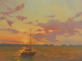 Barbara Lussier, <i>Sunset, </i>oil, $5000