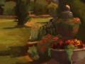 Katherine Mann, <i>The Scottish Garden, Wickham Park, </i>oil, $540