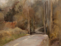 Stephanie Molnar, <i>As the Road Winds, </i>oil, $900