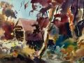 Robert Noreika	, <i>	Autumn Light	, </i>	watercolor	, 	$2,400	, 	15 x 22