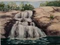 Anne Pierson	, <i>	Chapman's Falls, Spring	, </i>	watercolor	, 	$700	, 	14 x 17