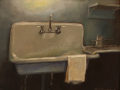 Catherine Puccio, <i>Pantry Sink, Weir Farm, </i>oil, $750