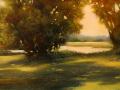 Janine Robertson, <i>Reflecting I, </i>oil/alum, $2200