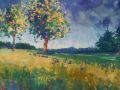 Diana Rogers, <i>Edge of the Orchard, </i>pastel, $550, 14 x 20
