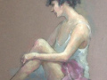 Matthew Schwager, <i>A Moment of Reflection, </i>pastel, $1400