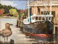 Bill Sonstrom, <i>Watchful Gull, </i>oil, $375, 6 x 8