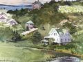 Caleb Stone	, <i>	Horn's Hill Overlook	, </i>	watercolor	, 	$1,400	, 	11 x 15