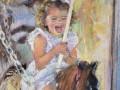 Jessica Teti Turgoose, <i>Carousel Ride, </i>pastel, $750