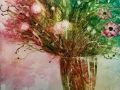 Jac Venza, <i>Wild Flowers, </i>watercolor, $1,500, 26 x 32