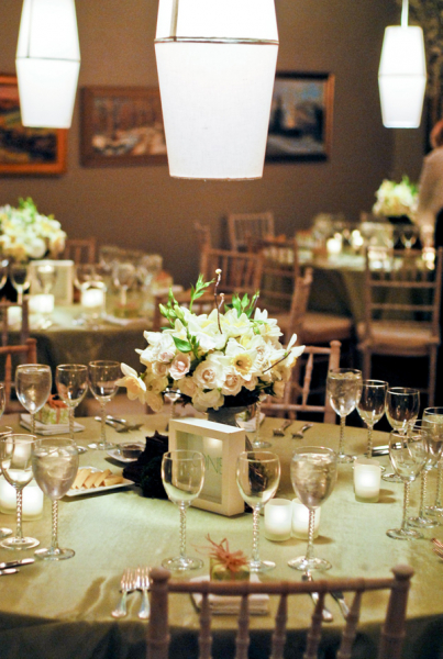 Private Dinner Party Round Tables