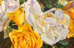 "Paul Baldassini, ""Iceburg Florabunda Roses No. 2"", oil, $2,900"