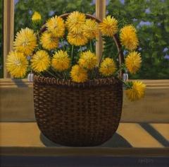 "Linda A. Casey, ""A Mother's Bouquet"", oil, $405"