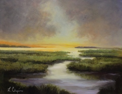 "Lorraine Selinsky Chapin, ""Golden Marsh"", oil, $850"