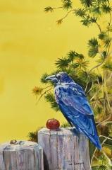 "JoAnna Chapin, ""Treasure Keeper"", watercolor, $650"