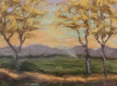 "Patricia Louise Corbett, ""The Kissing Trees"", oil, $750"