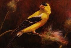 """Mally DeSomma, """"A Glimpse of Gold"""", oil, $365"""