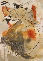 "Carol Dunn, ""Escaping Isolation"", mixed media, $165"