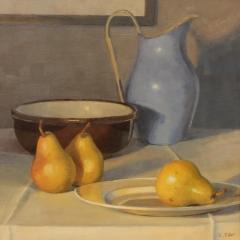 "Eileen Eder, ""Table Top Study"", oil, $1,450"