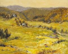 "Lorraine  Ficara, ""Goldenrod Meadows Below"", oil, $618"