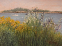 "Donna Gilberto, ""Stoney Creek Garden"", oil, $750"
