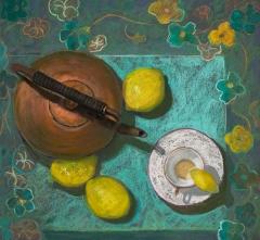 "Karen Israel, ""High Tea"", pastel, $1,250"