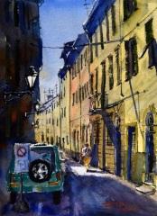 Loescher_Paul_Walking-Home_watercolor