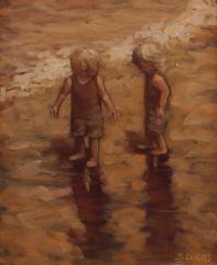 """Sarah Stifler Lucas, """"Follow Me"""", oil, $1,200"""