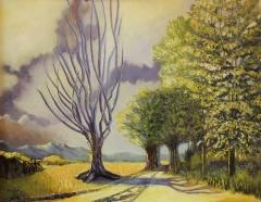 """Barbara Alice Moir, """"Evening Solitude"""", oil, $1,700"""