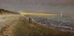 "Tom Moukawasher, ""Nantucket Beach"", oil, $1,250"