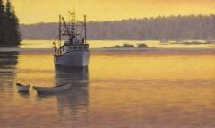 """Sean Murtha, """"Muscongus Twilight"""", oil, $1,800"""