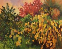 "Dan Nichols, ""Yellow Grapevines"", oil, $800"