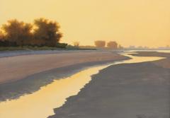 "Pamela Riley-Abear, ""Dawn on Anna Maria"", oil, $650"