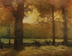 "Nina Ritson, ""Sunset"", etching, $225"