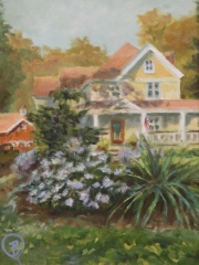 "Barbara Rossitto, ""Home Sweet Home"", oil, $450"