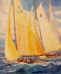 "Blanche Serban, ""Sail Away"", oil, $960"