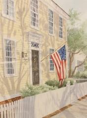 "Allan Forrest Small, ""Main Street Essex"", watercolor, $750"